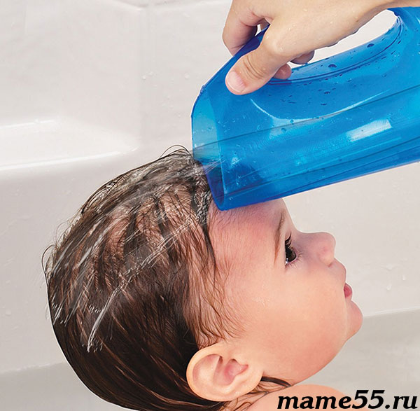 ковшик с резиновым носиком для мытья головы