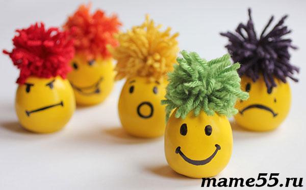 шарики-антистрессы с массой для лепки своими руками