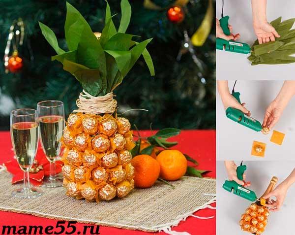ананас из конфет