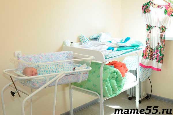 Палата мать и дитя роддом 6 Омск Евромед
