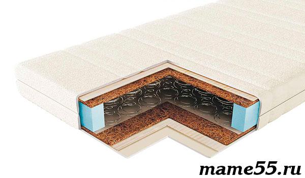 пружинный матрас с зависимым пружинным блоком