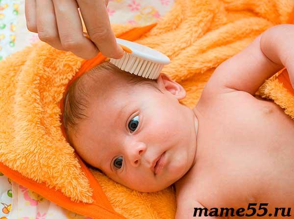Как убрать корочки на голове у грудничка