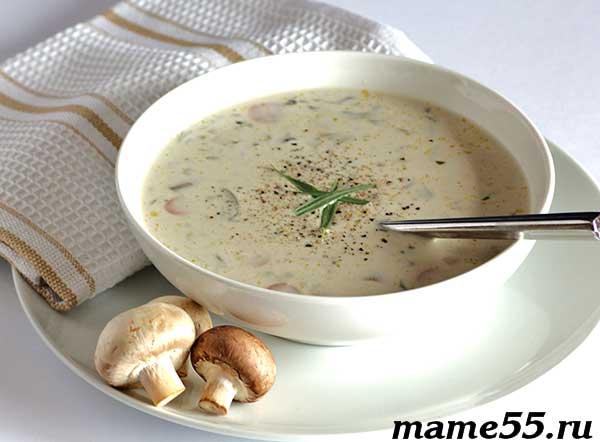 Детский грибной суп-пюре