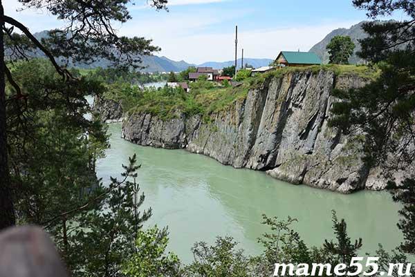 Река Катунь вид со смотровой площадки Чемал