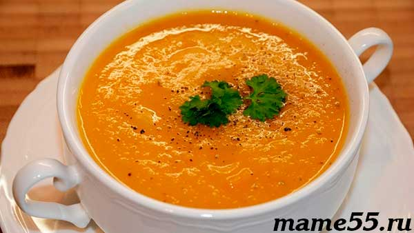 Суп-пюре из картошки морковки и гречки