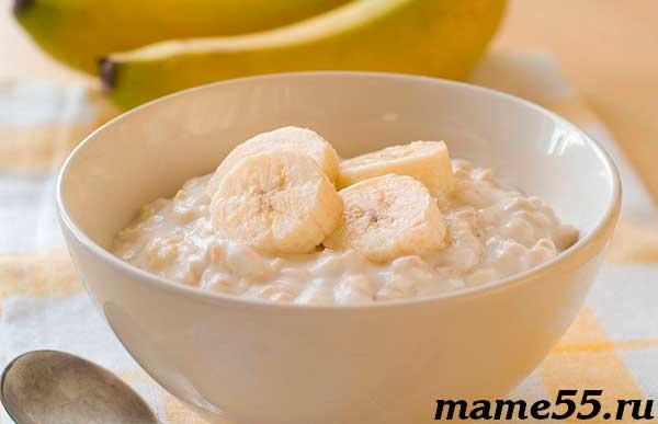 Рисовая каша с бананом